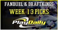 NFL Week 13 FanDuel and DraftKings Picks