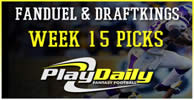 NFL Week 15 FanDuel and DraftKings Picks