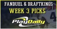 NFL Week 3 FanDuel and DraftKings Picks
