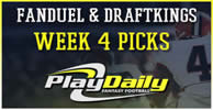 NFL Week 4 FanDuel and DraftKings Picks