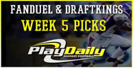NFL Week 5 FanDuel and DraftKings Picks