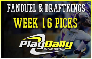 FanDuel and DraftKings Week 16 Picks