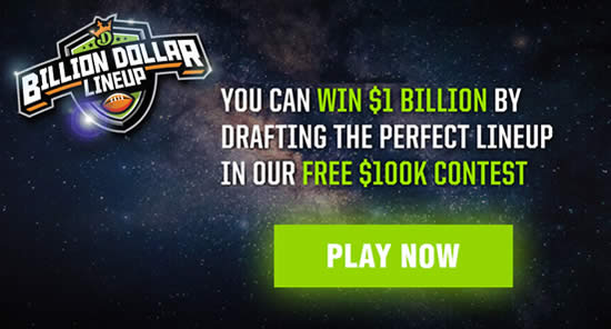 DraftKings Billion Dollar Lineup